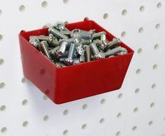 Amazon.com: WallPeg Plastic Part Bins - Red Pegboard Bins 10 ea. # AM 10R-2: Home Improvement
