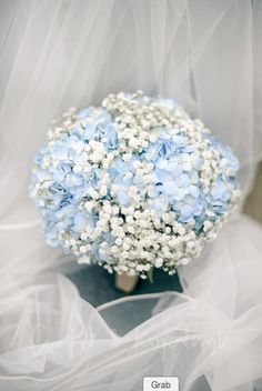 Gypsophila & hydrangea bridal bouquet made by www.stems.me.uk