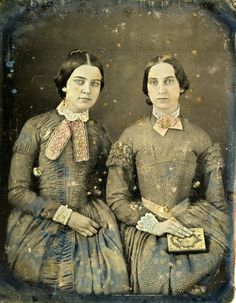 Hand-colored daguerreotype of two women from the 1850s. | Florida Memory