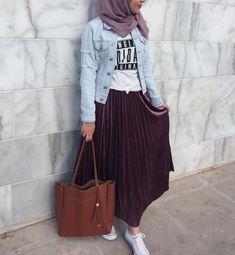 Pinterest: just4girls Stylish Hijab, Hijab Style, Casual Hijab Outfit, Hijab Chic, Street Hijab Fashion, Abaya Fashion, Muslim Fashion, Fashion Outfits, Modest Outfits