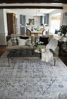 A Vintage Style Rug for Our Family Room