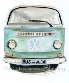 vw bus illustration