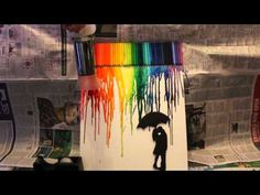 Rainbow Rain Acrylic Painting for Beginners - YouTube