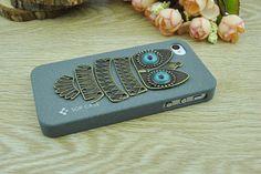 Retro bronze owl iPhone 4 CaseGray DIY iPhone 4 and by Richardwu, $9.50