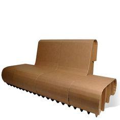banc canapé carton