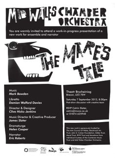 Poster for The Mare's Tale Orchestra, New Work, Composition, Presentation, Music, Poster, Musica, Musik, Muziek