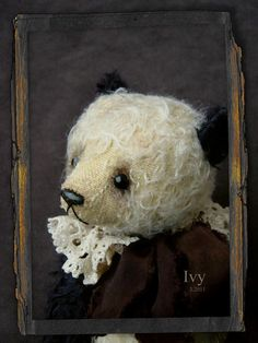 "Ivy 8 1/2"" Vintage styled Panda from Aerlinn Bears"