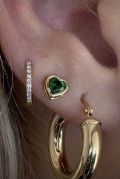 Ear Jewelry, Cute Jewelry, Jewelry Accessories, Jewlery, Silver Jewellery, Ring Necklace, Earrings, Cute Ear Piercings, Accesorios Casual