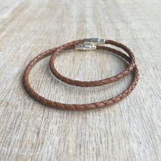 Lederarmband braun geflochten einfachen Armband paar von Fanfarria