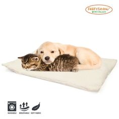 PARTYSAVING Self Heating Snooze Pad Pet Bed Mat for Pets Cats, Dogs and Kittens for Travel or Home, White - Cheaper and better quality than anything I Plastic Dog Crates, Wire Dog Crates, Indoor Dog Gates, Electric Dog Collar, Cat Perch, Bed Mats, Dog Car Seats, Dog Store