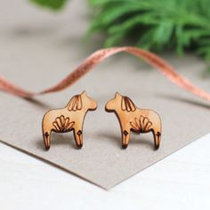 Dala Horse Christmas Earrings by Double Thumbs Up!, the perfect gift for Explore more unique gifts in our curated marketplace. Swedish Style, Scandi Style, Christmas Earrings, Christmas Jewelry, Small Gifts, Unique Gifts, Kraft Gift Boxes, Horse Jewelry, Stocking Fillers