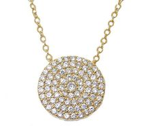 PAVE DESIGNER PENDANT IN YELLOW GOLD SET WITH CZ HIGH QUALITY!!!