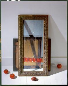 "John Chervinsky  Tomatos, Painting Against Wall, 2012  Archival Inkjet Print  30x24"" Image  Edition of 15  www.photoeye.com/johnchervinsky"