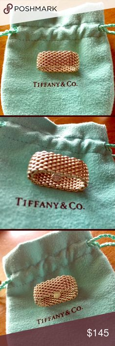 Tiffany & Co. Somerset Ring Sterling silver, size 6. Comes with pouch. Tiffany & Co. Jewelry Rings