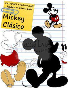 Descarga gratis nuestras plantillas para goma eva y fieltro de tus personajes de Disney favoritos.  Películas, Disney, Plantillas, Moldes, Patrones, Goma Eva, M