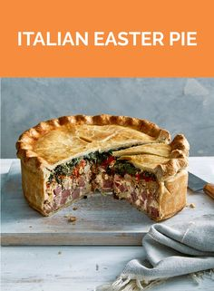 If you're looking for a classic Italian Easter Pie recipe (also called Pizza Rustica), the search is over. Pie Recipes, Appetizer Recipes, Dinner Recipes, Cooking Recipes, Easter Recipes Savoury, Breakfast Recipes, Recipies, Pizza Rustica, Italian Easter Pie