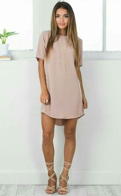 Casual Dress Ideas for Women to Look Chic Every Day ★ Beautiful Casual Dresses, Simple Dresses, Sexy Dresses, Cute Dresses, Cute Outfits, Elegant Dresses, Casual Dress Outfits, Shift Dress Outfit, Work Dresses