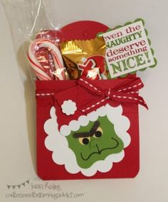 Stampin' Up! Christmas  by Lorri Heilig: The Grinch Treat Pouches