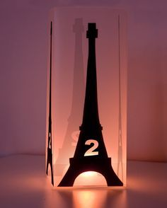 #DIY: Eiffel Tower Light Box - Wonderful idea for --- have a different idea for this but it did inspire me