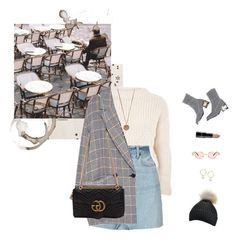 """La muse."" by greciapaola ❤ liked on Polyvore featuring KEEP ME, Topshop, RE/DONE, Native Gem, Gucci and H&M"