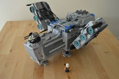 LEGO Bounty Hunter Ship - Back right view from above - Non Canon! | LEGO, Star Wars, Creations, Designs, Sets, Play, Build, Create, Space, Ships, Vehicles, Crafts, Transport, Stormtrooper, Jedi, Force, Planets, Lightsabers, Rebels, Vader, Empire