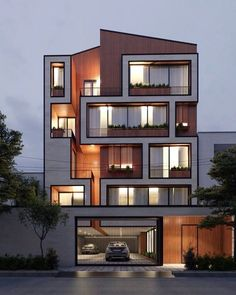 appartement d'architecture moderne ; modern architecture house, modern architecture building, modern architecture interior, modern architecture elevation, m Residential Building Design, Architecture Building Design, Building Exterior, Building Facade, Modern Residential Architecture, Cultural Architecture, Residential Complex, Architecture Drawings, House Architecture