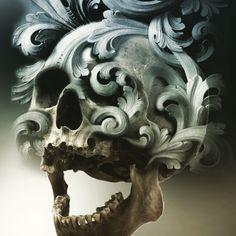 Skull and filigree