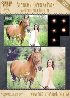 """FREE """"Starburst"""" Overlay Pack and Photoshop Tutorial  by The CoffeeShop Blog"""