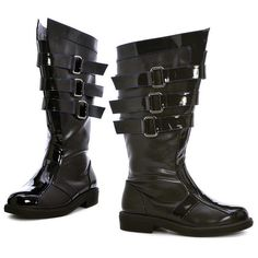 Adult Dark Lord Black Costume Boots, Size:
