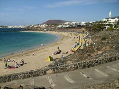 One day in Desember at the Dorada beach in Playa-blanca Lanzarote.