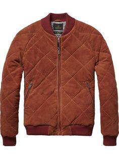 Suede Bomber Jacket | Leather Jackets | Men Clothing at Scotch & Soda