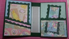 "7 x 7 mini album created using Kathy Davis 'Journeys"" paper. It has 10 full pages and 4 half pocket pages. This album can be purchased in my Etsy shop:https:. Mini Scrapbook Albums, Scrapbook Sketches, Mini Albums, Notebook, Youtube, Frame, Scrapbooking, Home Decor, Pockets"