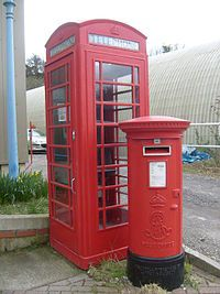phone booth and mail box