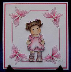 Regina Ribeiro: Cartão bordado e risco - Embroidery card and pattern tutorial