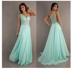 """Mint Beaded Party Prom Evening Pageant Cocktail Dress Ball Gown Sz 6 8 10 12 14 
