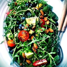 """""""Tonight I whipped up one massive superfood salad! Went down a treat! """""""