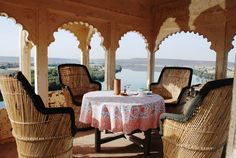 The view from Bhainsrorgarh Fort Palace. #India http://bhainsrorgarh.com