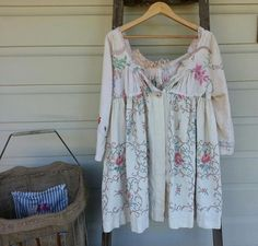 Vintage Linen Prairie Jacket Made to Order by MegbyDesign on Etsy ~ $265