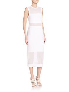 Alice and Olivia - Karman Fitted Sheer Panel Dress