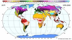 Current and future climate zones, animation by Rubel and Kottek #map #climate