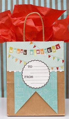 Give your gift in an easy homemade gift bag -- it will really add that extra something special to your gift. www.fiskars.com