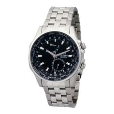 Orient Men's CFA05001B World Time 100m Sapphire Crystal with Carbon Fiber Dial Black Watch Orient. $410.00. Solid Bracelet. Sapphire crystal. Water resistant to 330 feet (100 M). Stainless steel case