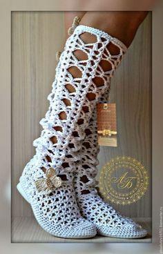 Crochet Sandals, Crochet Boots, Crochet Shirt, Crochet Slippers, Diy Crochet, Crochet Clothes, Crochet Shoes Pattern, Shoe Pattern, Crochet Patterns