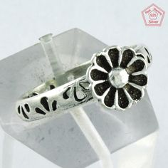 2.2 gm Flowerish Design 925 Sterling Silver 5.5 US Ring Band R4021 #SilvexImagesIndiaPvtLtd #Band #AllOccasions