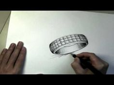 Drawing a Pave' Ring by Umeda Sketch - simply brilliant!