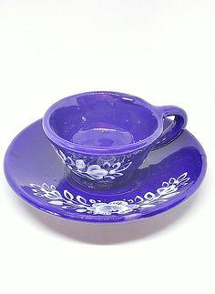 keramika_Veron / Keramická šálka s podšálkou - ľudový vzor Verona, Tea Cups, Tableware, Dinnerware, Tablewares, Dishes, Place Settings, Cup Of Tea