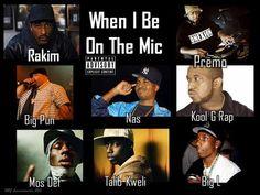 RBG-Rakim -When I Be On The Mic Ft Big Pun, Nas, Mos Def, Talib Kweli, Kool G Rap & Big L