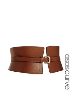 ASOS CURVE Wide Waist Cincher Belt #plussizebelts #plussizefashion