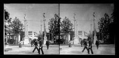 """Una delle stereo-diapositive pubblicate sul libro di Claudio Centimeri """"Expo 1906 in 3-D"""", edito da Cisalpino."""