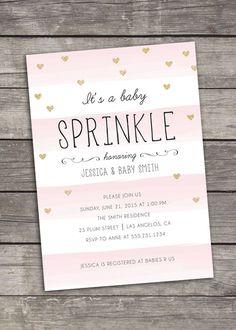 Baby Sprinkle Invitation - Baby Shower - Custom Printable - Digital by bitofpixie on Etsy https://www.etsy.com/listing/229538131/baby-sprinkle-invitation-baby-shower